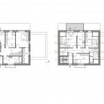Zweifamilienhaus Grundriss Dachgeschoss und Obergeschoss